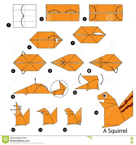 how to make an origami animal step by step how to make origami a squirrel