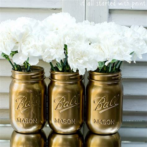 spray paint jars make metallic jars with spray paint
