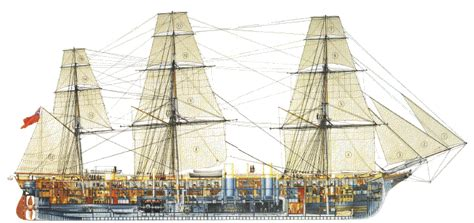 Small Cabin Blueprints hms warrior 1860 the virtual tour
