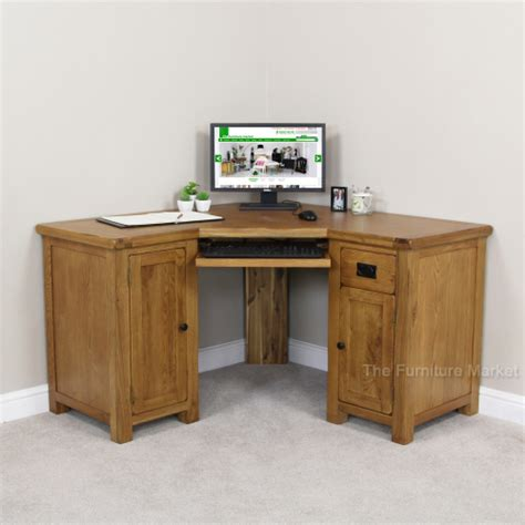 corner oak desk rustic oak corner desk office study large computer
