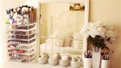 Bedroom Makeup Vanity Ideas my makeup collection and storage 2014 makeup youtube