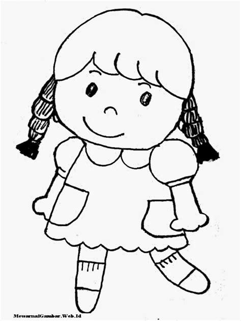 untuk anak mewarnai gambar anak perempuan mewarnai gambar