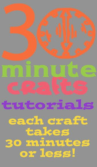 30 minute craft projects 30 minutes less crafts