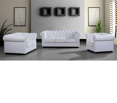 modern white leather sofa dreamfurniture 3 modern white leather sofa set