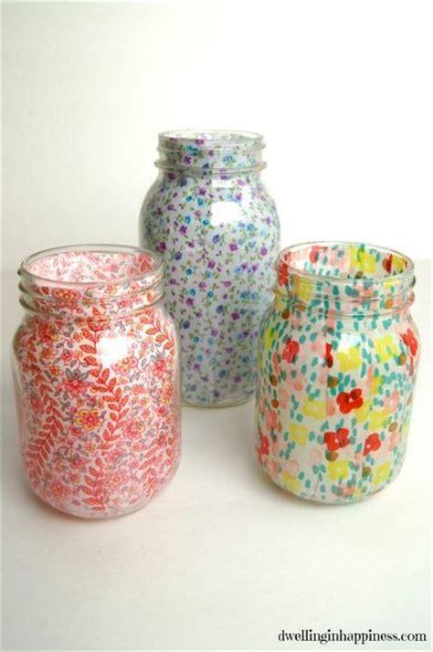 decoupage candle jars 25 best ideas about decoupage jars on