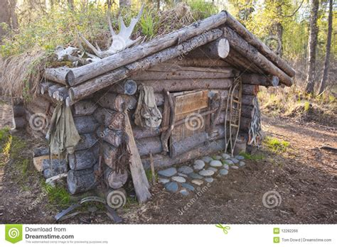 How To Build A Small Cabin In The Woods hunting cabin royalty free stock image image 12282266