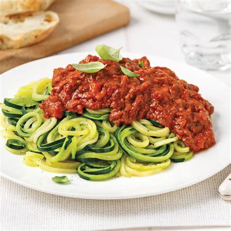 spaghettis de courgettes sauce 224 la viande soupers de semaine recettes 5 15 recettes