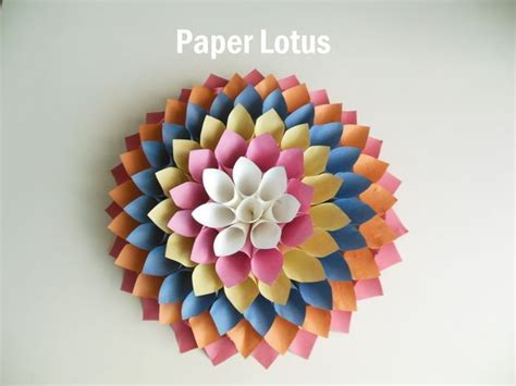 lotus flower paper craft 17 best ideas about paper lotus on paper