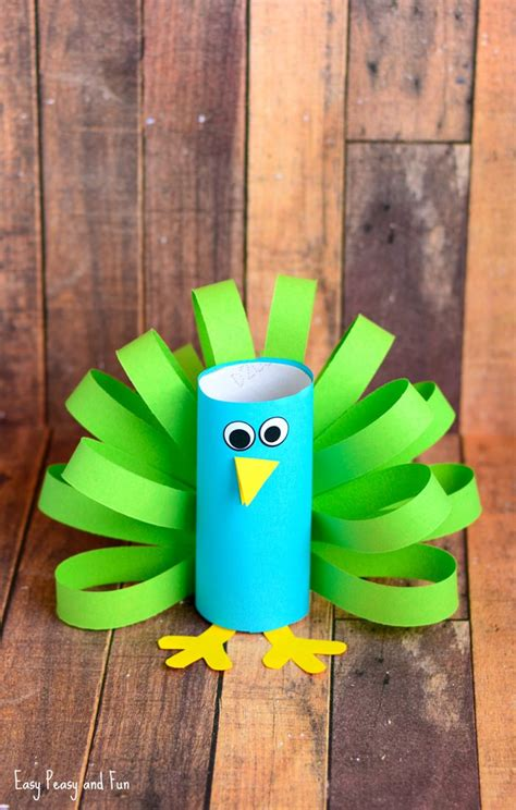 peacock crafts for toilet paper roll peacock craft idea easy peasy and