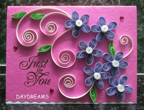 quilling card daydreams quilled cards