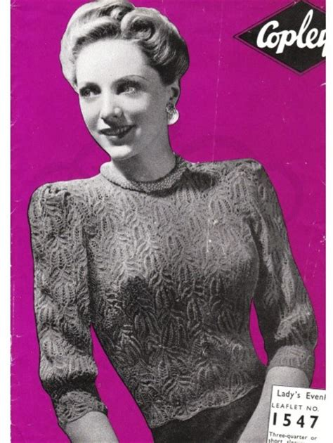 vintage knits vintage knitting pattern how to make a 1940s lace jumper