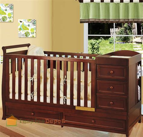 baby crib and dresser combo multi function cherry solid wooden baby crib combo dresser