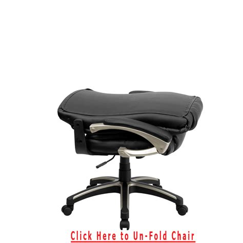 Folding Chair With Desk by High Back Folding Black Leather Executive Swivel Office