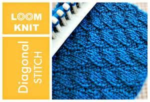 knitting loom stitches loom knitting stitches diagonal stitch