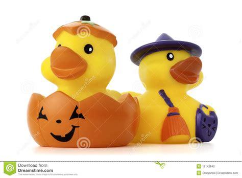 pumpkin rubber st pumpkin and witch rubber ducks stock photo image 16142840