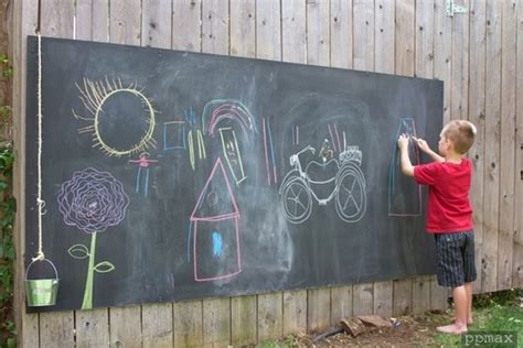 chalk paint outdoors ingenious ways of using chalkboard paint