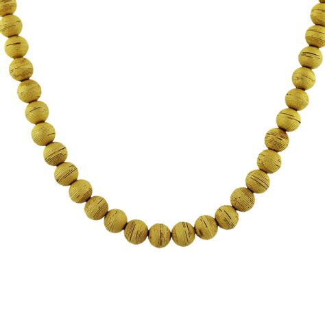 gold bead necklace 18k yellow gold bead necklace boca raton