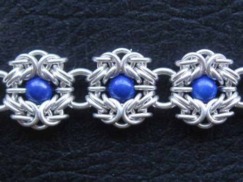 how to make chainmaille jewelry romanov weave a byzantine variation with held