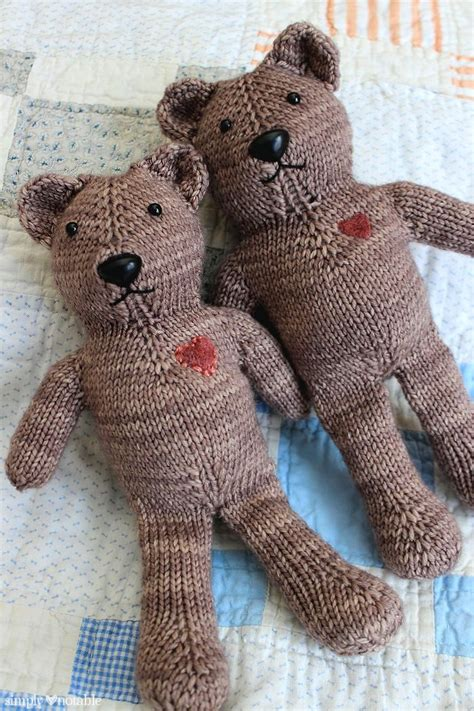knitted teddy pattern free magic loop teddy knitting pattern simplynotable