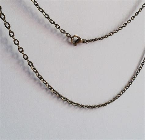 brass chain for jewelry custom length antique bronze chain with a lobster clasp