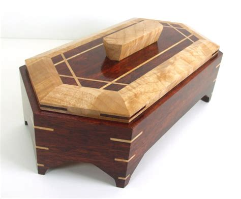 woodworking boxes bloodwood jewelry box handmade from solid bloodwood