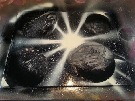 spray paint for beginners black and white spray paint 3 planets in one beginner