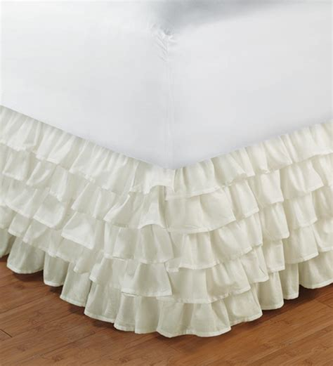 bed skirts white ruffle layered bed skirt valance xl size 1000tc