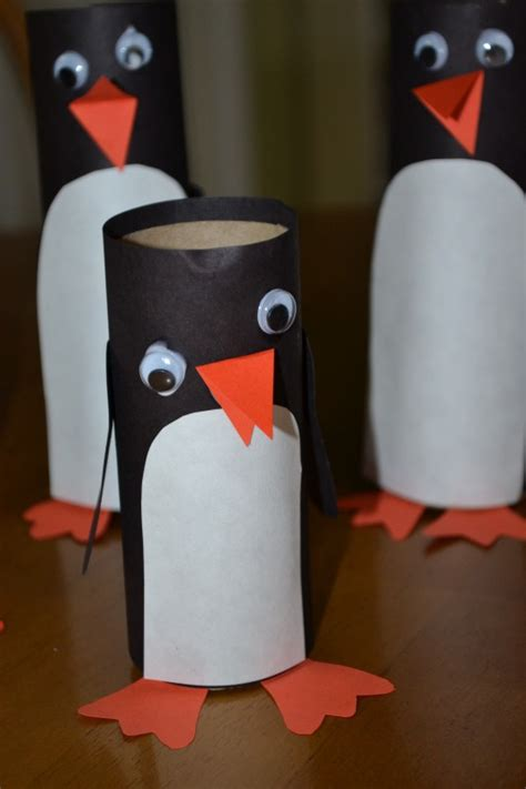 penguin toilet paper roll craft toilet paper penguin speech therapy