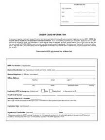 credit card information form 2 free templates in pdf