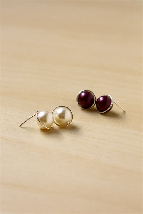 how to make sted jewelry diy pearl stud earrings make and fable