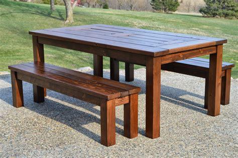 diy patio table plans kruse s workshop simple indoor outdoor rustic bench plan