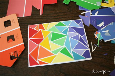 how to make an amazing birthday card paint chip greeting cards chica and jo