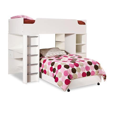 modern bunk bed with desk modern l shaped loft bunk bed with desk