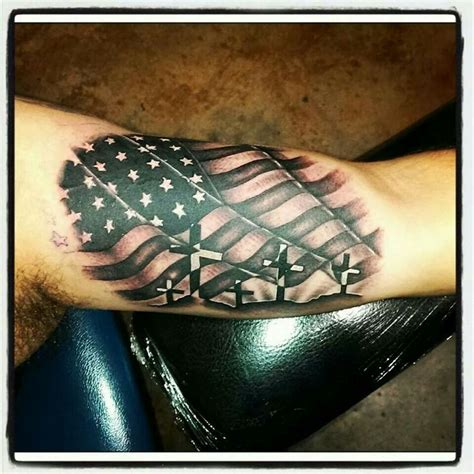 american flag tattoo crosses americanflag army navy