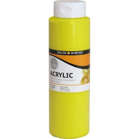 walmart acrylic paint simply acrylic 750ml paint yellow walmart