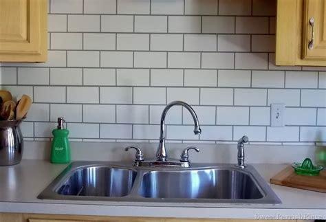 paint kitchen backsplash painted subway tile backsplash remodelaholic