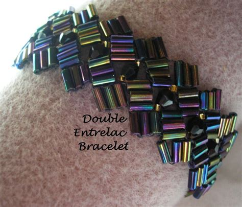 bugle bead patterns bugle bead entrelac by busycrow jewelry pattern