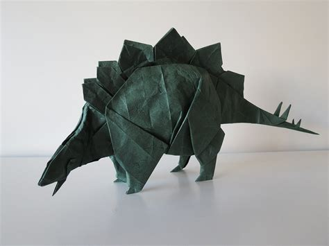 origami stegosaurus some of the best origami i ve seen in 65 million years