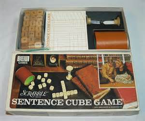 scrabble sentence cube 1971 scrabble sentence cube word combination selchow
