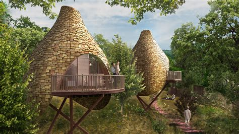 treehouse house robin hill nesting treehouse development blue forest
