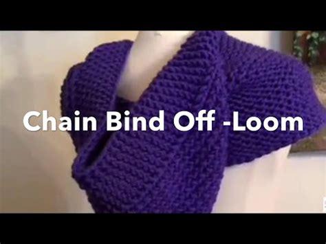 bind loom knitting loom knit chain one bind chain bind