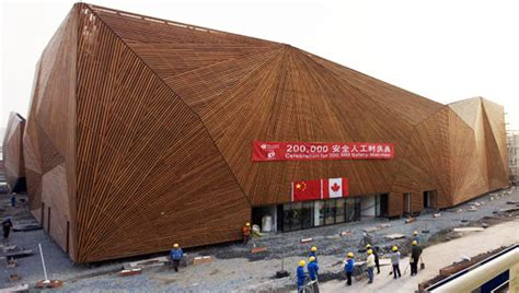 woodworking expo canada pavilion at shanghai world expo collects rainwater