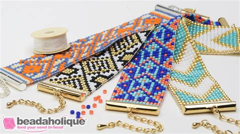 how to make beaded bracelets on a loom how to make the beaded loom bracelet kits by beadaholique