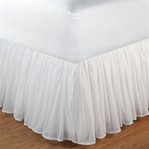 cotton voile gathered bedskirt