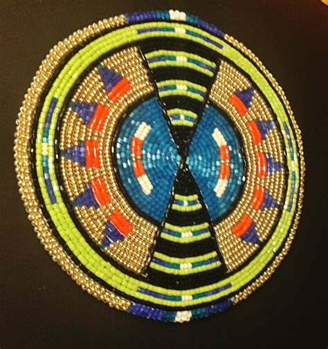 beaded medallion beaded medallion beadwork geometrical