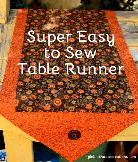 easy table runner easy to sew table runner pink polka dot creations