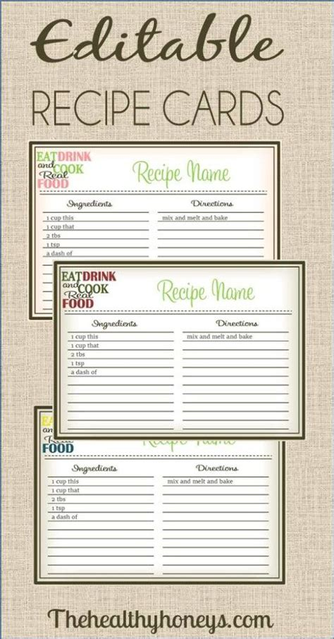 how to make recipe cards on word 10 images about printable recipe cards on