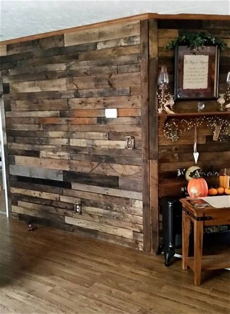 Dining Room Ideas For Small Spaces wood pallet wall for hotter home interior decor