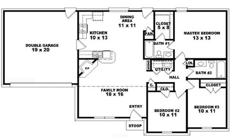 floor plans for homes one story 3 bedroom one story house plans story bedroom 3 bedroom 1 bath house plans mexzhouse