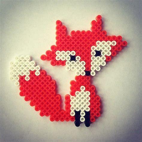 perler bead fox items similar to fox hama perler handmade hama